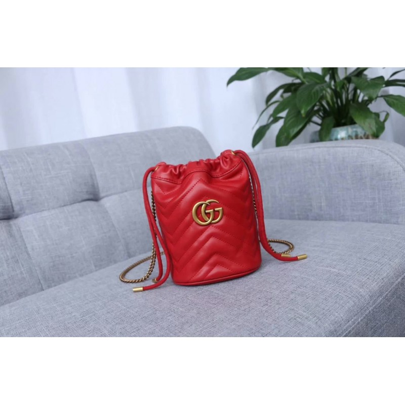 Gucci GG Marmont Double G Mini Bucket Bag 575163